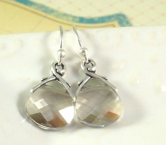 Swarovski Crystal Earrings : Silver Shade