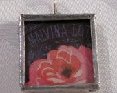 Vintage Label Rose Pendant