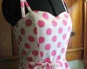 Sample SALE Pink Polka Dot Sundress