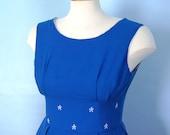 SALE Blue Cotton Sundress