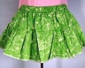 SALE Green Print Cotton Petticoat Skirt