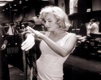 Marilyn Monroe White Wiggle Dress with Pom Pom trim