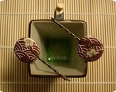 Japanese Ume Origami Hairpins Barrettes