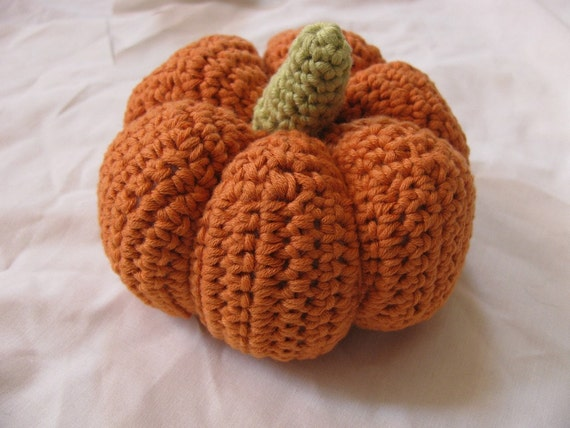 Amigurumi Pumpkin Crochet Pattern : Items similar to Amigurumi Pumpkin Crochet Pattern -- PDF ...
