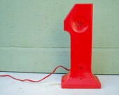 Red Number One Telephone