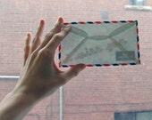 secret message envelope - i miss you