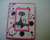 Retro kitty note cards