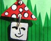 Mini Mister Shroom Earrings REDUCED Price SALE