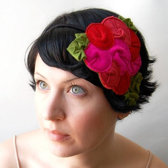 Giant Dwarf \/\/ Rosette Fascinator \/\/ The Flamingo \/\/ MADE TO ORDER