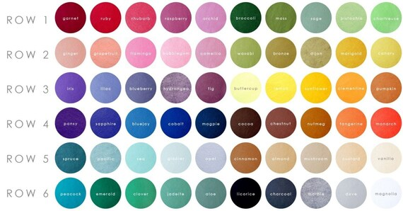 Giant Dwarf Fancy Felt // Rainbow Sampler // 9 X 12 Inches // 72 Count and Color Catalog