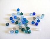 Ocean Mix, Swarovski 4mm Bicone Blue Green Beads