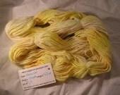 Sunshine in yarn form.  Yellow Handspun Hand dyed Merino Wool Yarn