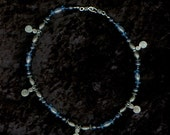 Blue Spiral Beaded Necklace