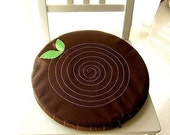 Seat Floor Cushion, Tree Stump (Dark Brown Color)