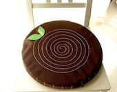 Seat Floor Cushion - Stumpie (Dark Brown)