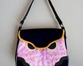ON SALE - Shoulder Bag - Hoot The Owl Bag (Vintage Poppy Blush)