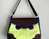 ON SALE - Handbag - Hoot The Owl Bag (Petit White Bunnies)