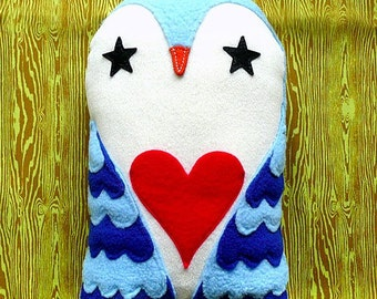 Owl Toy Decor, Owl Plush Toy, Owl Softie, Owl Plushie, Blue Owl Plush Toy, Owl Nursery Toy, Starry Love Owl (Blue Color)
