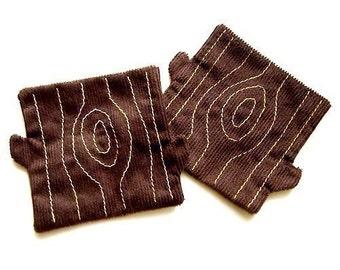 Coasters - Tree Trunk Coaster Pair (Brown)