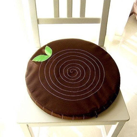 Tree Stump Cushion, Round Cushion, Seat Cushion, Floor Cushion, Tree cushion, tree trunk cushion, Brown Cushion, flat cushion