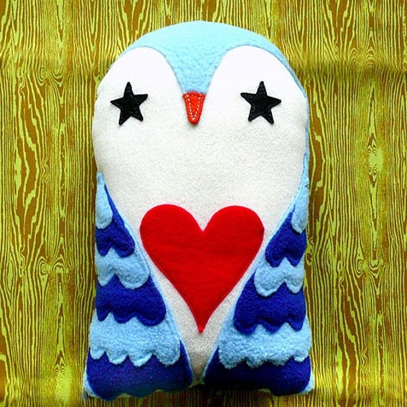 Plush Toy - Starry Love Owl (Sky Blue)