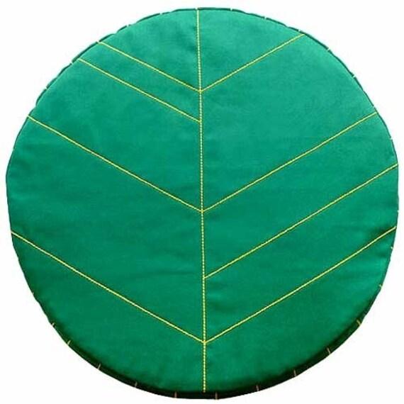 Cushion - Leaf Seat Floor Cushion (GREEN)