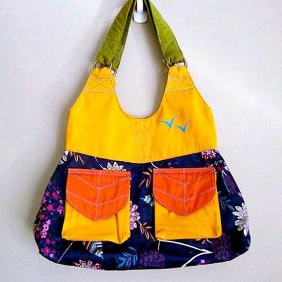 Shoulder Bag - The Petiole Shoulder Bag (Midnight Purple Dreams)