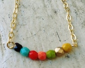 Complimentary Colors Beaded Necklace