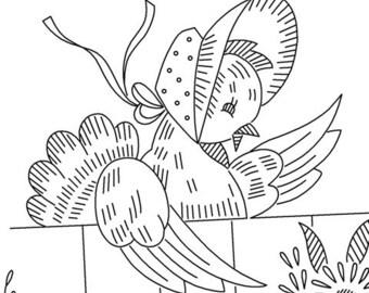 Vintage Hand-Embroidery Pattern PDF - Gossip Girls