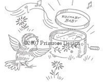 Vintage Hand-Embroidery Pattern PDF - Lil Birdies (10 Baby/Nursery Designs)