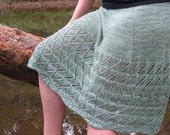 Brolly Skirt Knitting Pattern Linen Pretty Summer Easy Lace 7 sizes
