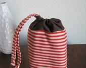 Striped Bean Pouch