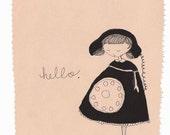 Telephone Girl Print