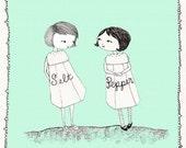 Salt Meet Pepper Print
