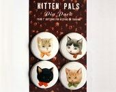 Pinback Button Pack: Kitten Pals by Emily Winfield Martin