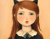 Portrait with Cat Ears Print 8x10 by Emily Winfield Martin