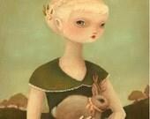 Portrait with Jackalope Print 11x14