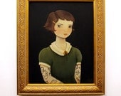 Original Painting from the 2012 Oddfellow's Portrait series : Imogen