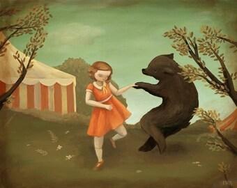 Bear Dance Print 14x11