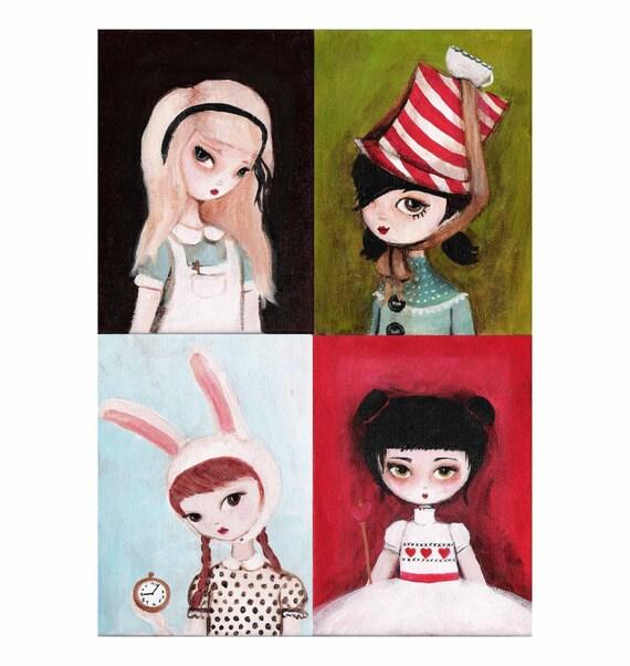 Alice in Wonderland Print Set