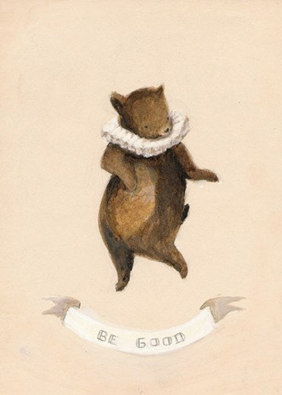 Be Good Bear Print 5x7 by Emily Winfield Martin