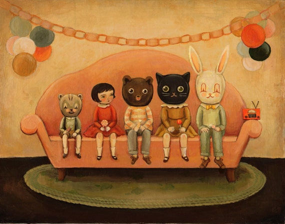 Costume Party Print 10x8 by Emily Winfield Martin
