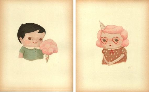 Cotton Candy Kids Print Set