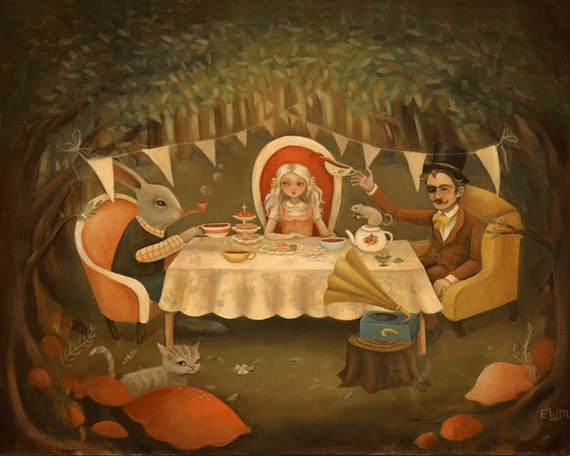 The Mad Tea Party Print 10x8 by Emily Winfield Martin
