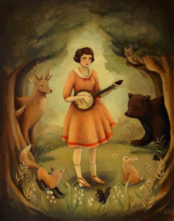 The Banjo Recital Original Painting