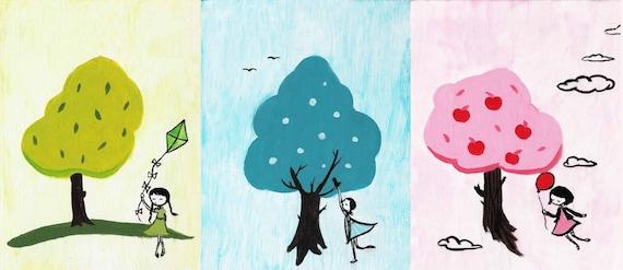 Three Trees Print Set