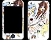 iPhone 3G skin - keyboard girl
