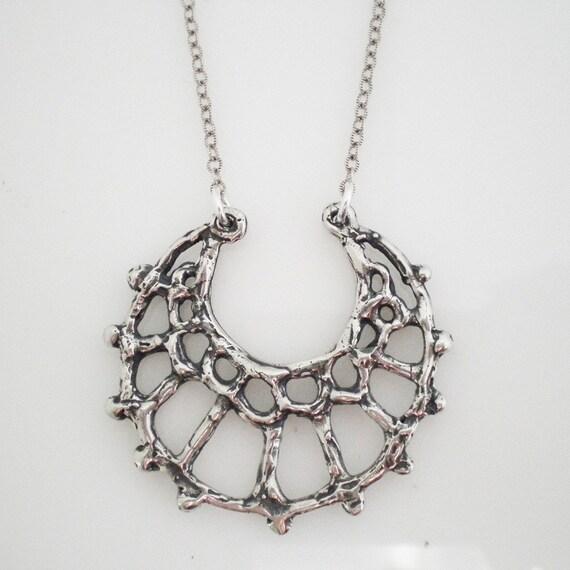 SALE crescent moon necklace