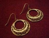 Crescent Moon Filigree Earrings