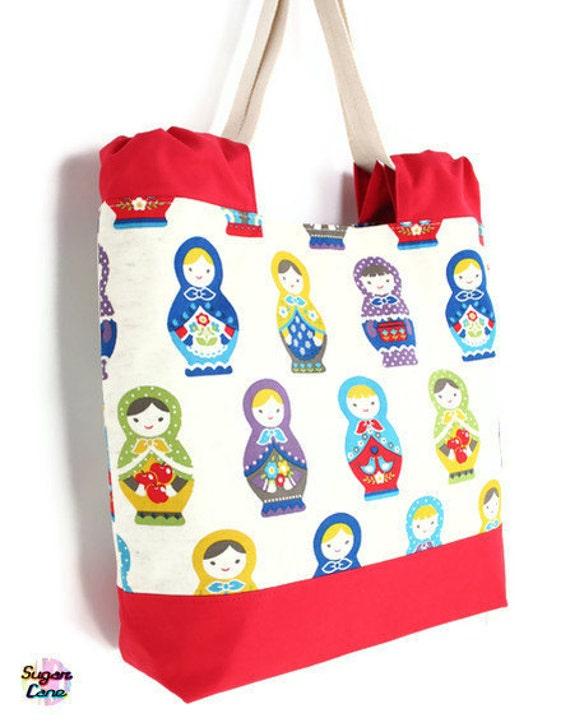 CLEARANCE SALE - Everyday Handbag - Red Matryoshka Matryoshka